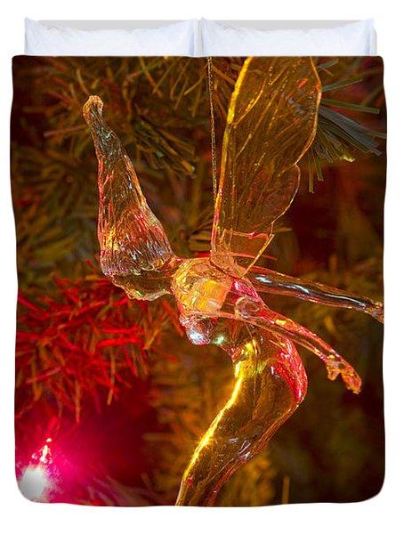 Tinker Bell Christmas Tree Landing Duvet Cover by James BO  Insogna