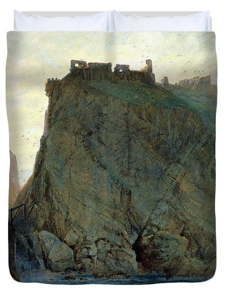 Tintagel On The Cornish Coast Duvet Cover by W T Richards