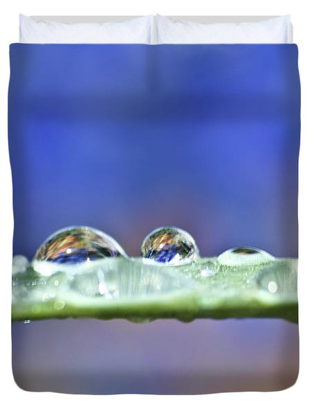 Tiny Waterworld And A Leaf Duvet Cover by Heiko Koehrer-Wagner