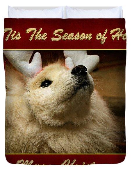 'tis The Season Of Hope Merry Christmas Duvet Cover by Lois Bryan
