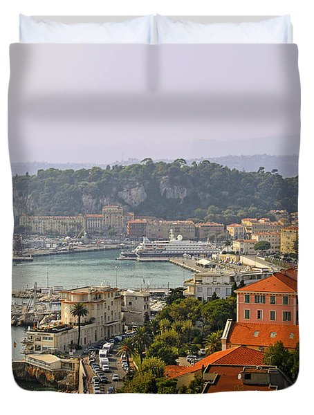 To Catch a Thief - Nice France Duvet Cover by Christine Till