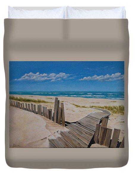 To The Beach Duvet Cover by Paul Bennett