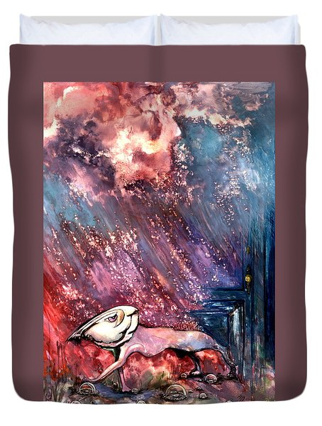To The Freedom Duvet Cover by Mikhail Savchenko
