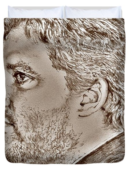 Tony Stewart In 2011 Duvet Cover by J McCombie