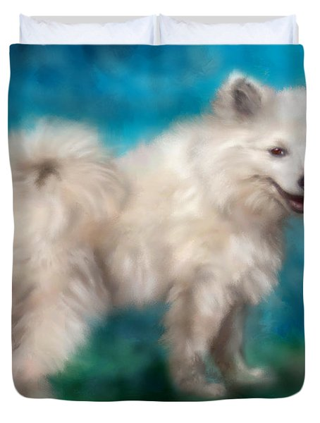 Too Sexy For My Fur Duvet Cover by Colleen Taylor
