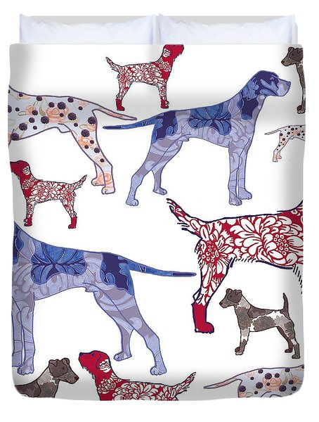 Top Dogs Duvet Cover by Sarah Hough