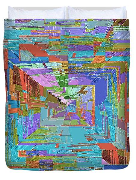 Topographic Albatross Duvet Cover by Tim Allen