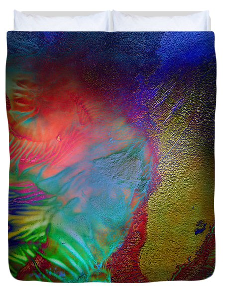 Topology Of Decalcomania Duvet Cover by Otto Rapp