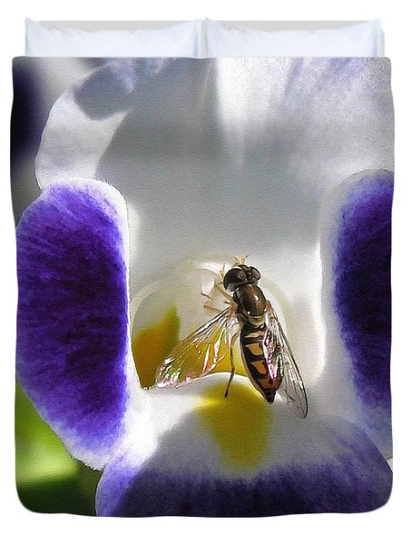 Torenia from the Duchess Mix Duvet Cover by J McCombie