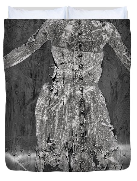 Torn Poster No. 1 Duvet Cover by David Gordon