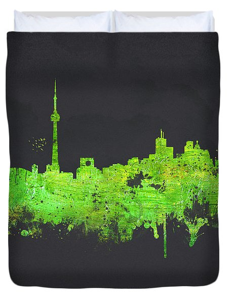 Toronto Canada Duvet Cover by Aged Pixel