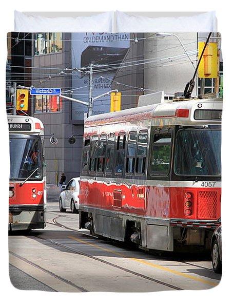 Toronto Street Duvet Cover by Valentino Visentini