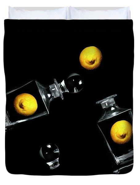 Toss Me a Lemon Duvet Cover by Diana Angstadt