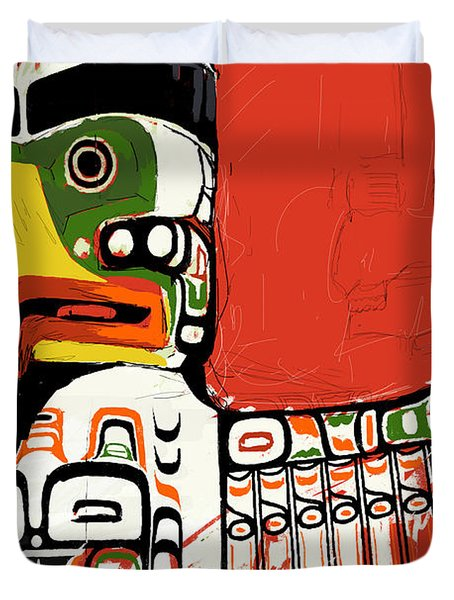Totem Pole 02 Duvet Cover by Catf