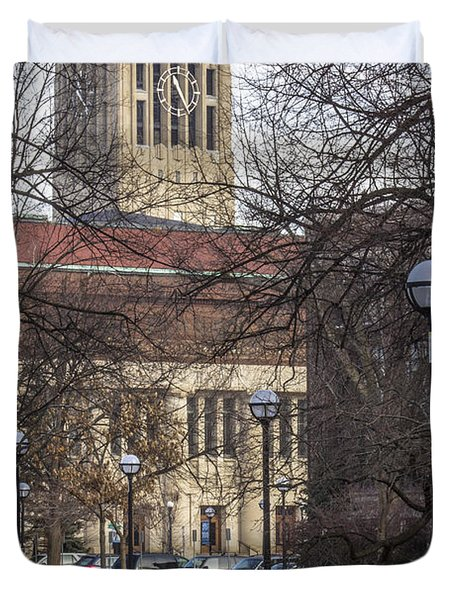 Tower At U Of M Duvet Cover by John McGraw