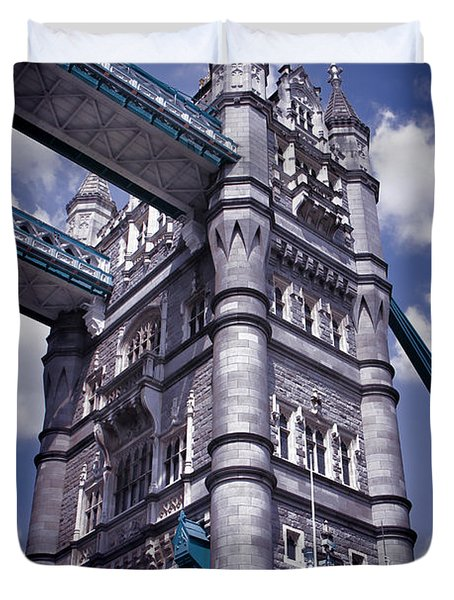 Tower Bridge London Duvet Cover by Mariola Bitner