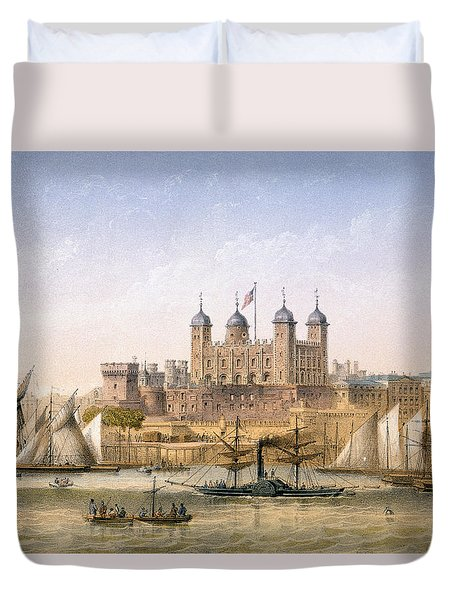 Tower Of London, 1862 Duvet Cover by Achille-Louis Martinet