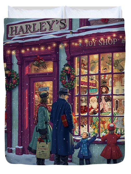 Toy Shop Variant 2 Duvet Cover by Steve Read