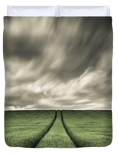 Tracks Duvet Cover by Dave Bowman