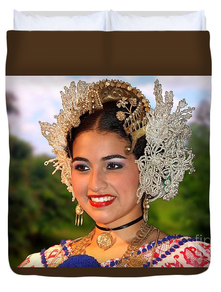 Tradition And Beauty Duvet Cover by Bob Hislop