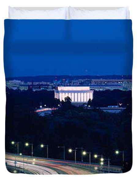 Traffic On The Road, Washington Duvet Cover by Panoramic Images