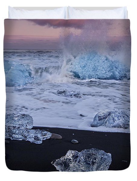 Trail Of Diamonds Duvet Cover by Evelina Kremsdorf