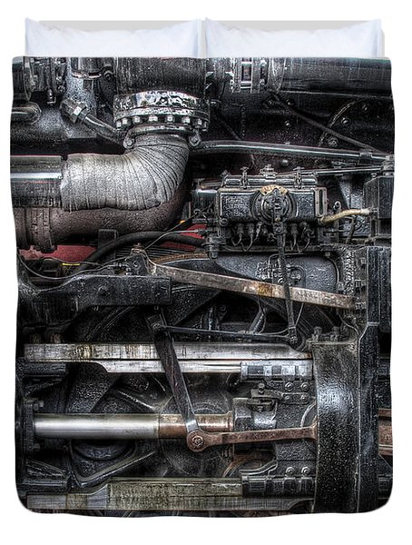 Train - Engine - 611 - Norfolk and Western - Built 1950 Duvet Cover by Mike Savad