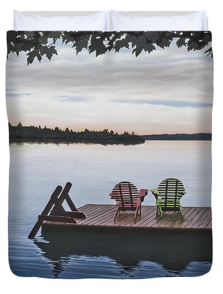 Tranquility Duvet Cover by Kenneth M  Kirsch
