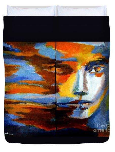 Transition - Diptic Duvet Cover by Helena Wierzbicki