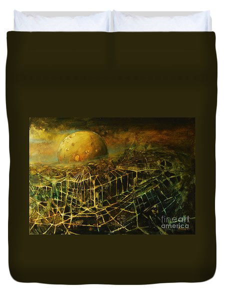 Trapped By The Moon Duvet Cover by Michal Kwarciak