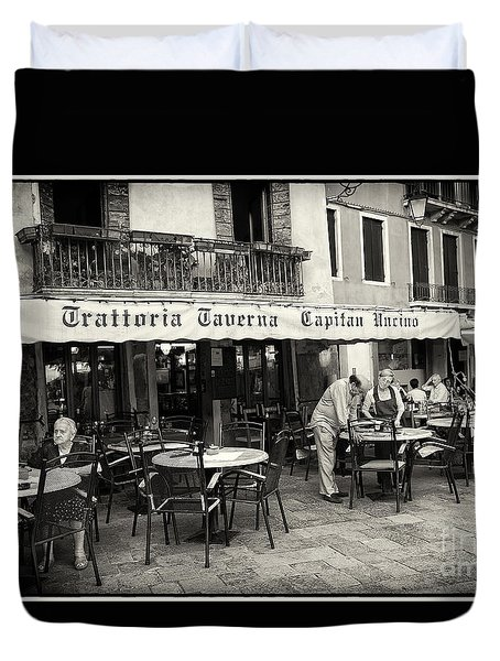 Trattoria In Venice  Duvet Cover by Madeline Ellis