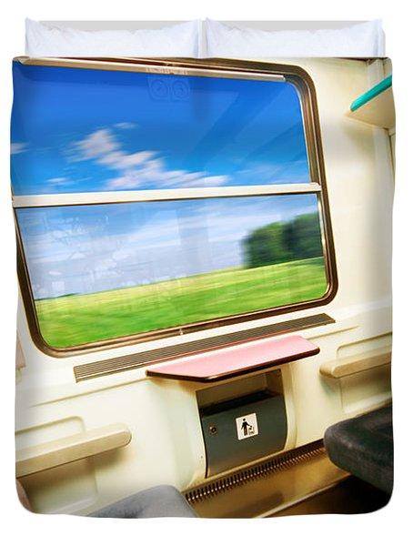 Travel In Comfortable Train. Duvet Cover by Michal Bednarek