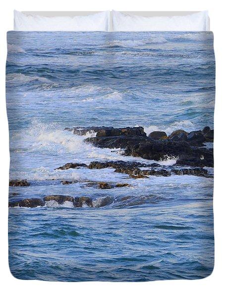 Treacherous Shorebreak Duvet Cover by Mary Deal