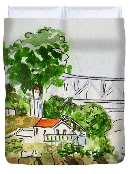 Treasure Island - California Sketchbook Project  Duvet Cover by Irina Sztukowski