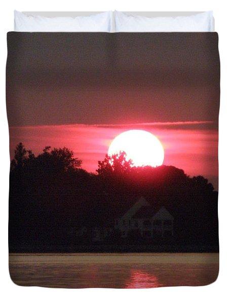 Tred Avon Sunset Duvet Cover by Lainie Wrightson