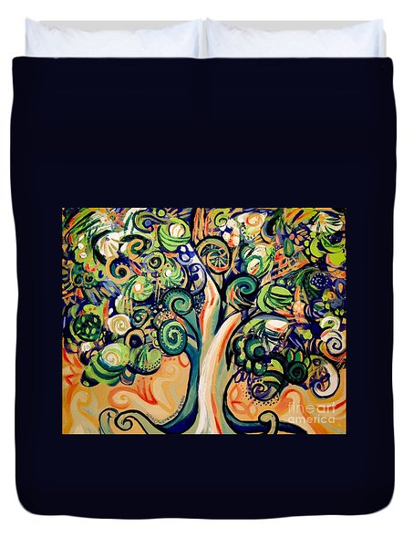 Tree Candy 2 Duvet Cover by Genevieve Esson