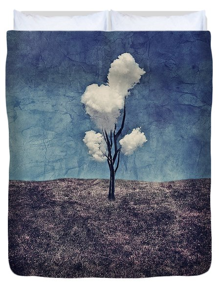 Tree Clouds 01d2 Duvet Cover by Aimelle