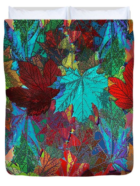 Tree Leaves Duvet Cover by Klara Acel
