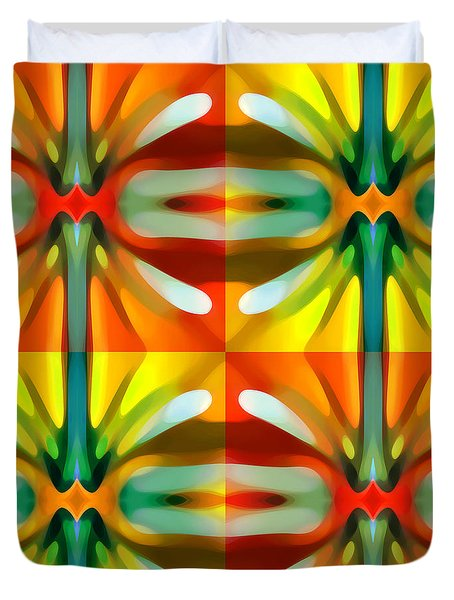 Tree Light Square Pattern Duvet Cover by Amy Vangsgard