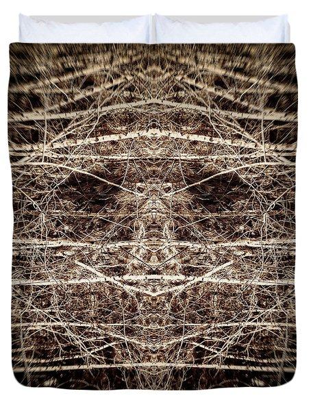 Tree Mask Duvet Cover by Wim Lanclus