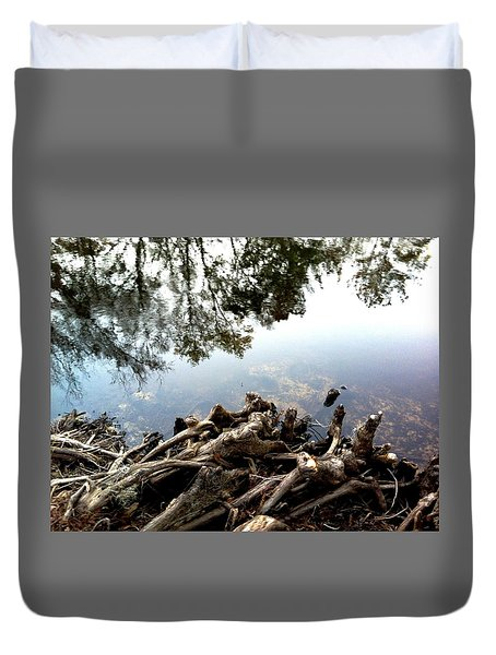 Tree Reflections Duvet Cover by Robin Lewis