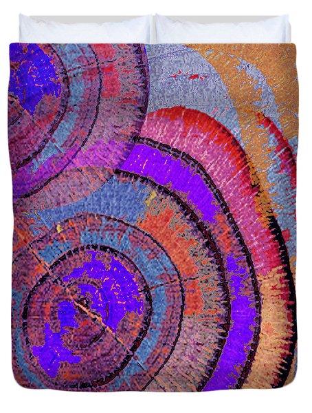 Tree Ring Abstract 2 Duvet Cover by Tony Rubino