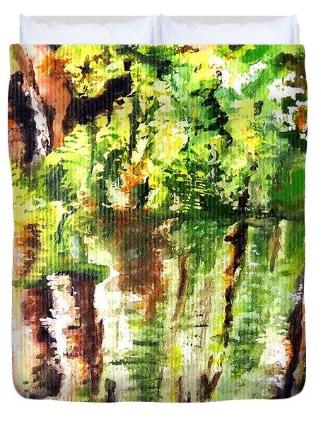 Trees Duvet Cover by Daniel Janda