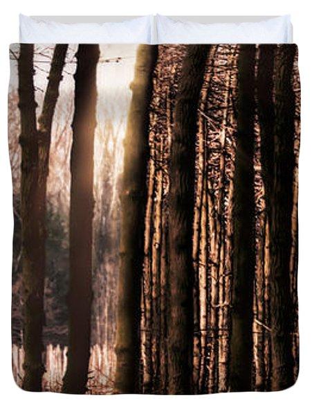 Trees Gathering Duvet Cover by Wim Lanclus