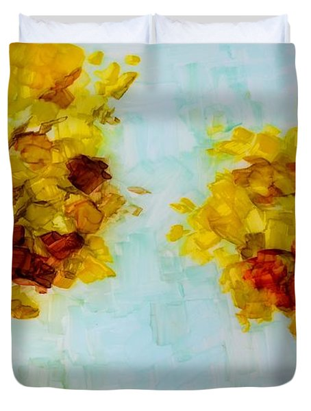 Trees In The Fall Duvet Cover by Patricia Awapara