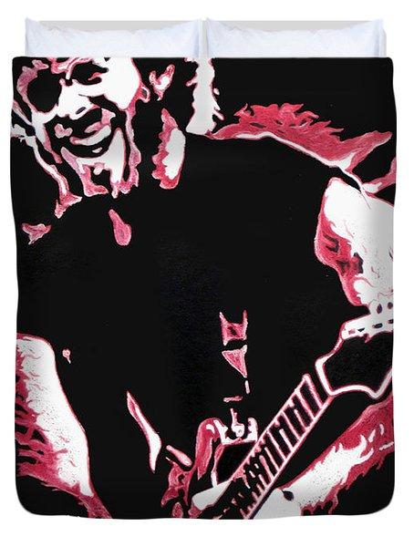 Trey Anastasio In Pink Duvet Cover by Joshua Morton