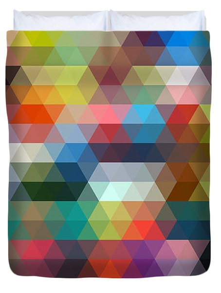 Triangulation 2 Duvet Cover by Taylan Apukovska