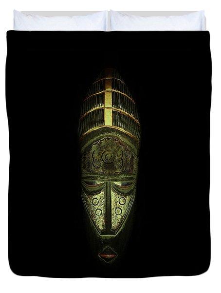 Tribal Mask  Duvet Cover by David Dehner