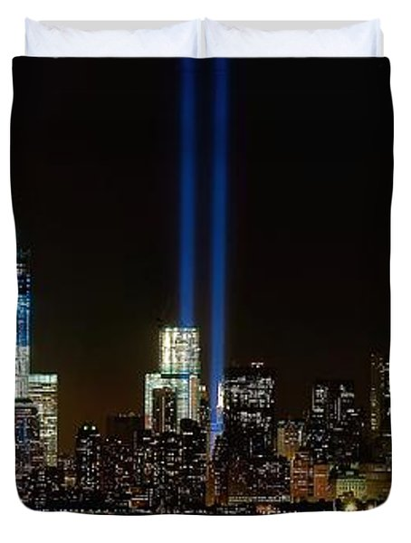 Tribute in Light from Bayonne Duvet Cover by Nick Zelinsky