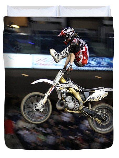 Trick Rider Duvet Cover by Karol  Livote